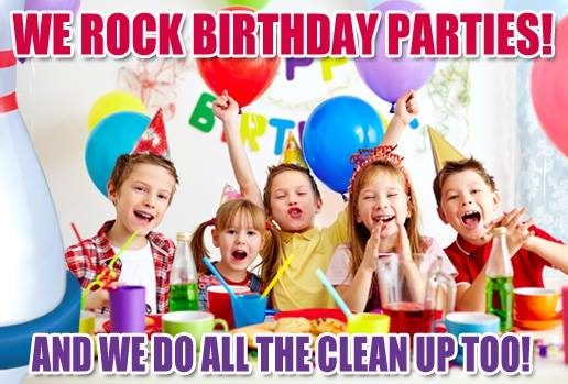 Kid's Birthdays are messy affairs... let us clean up!