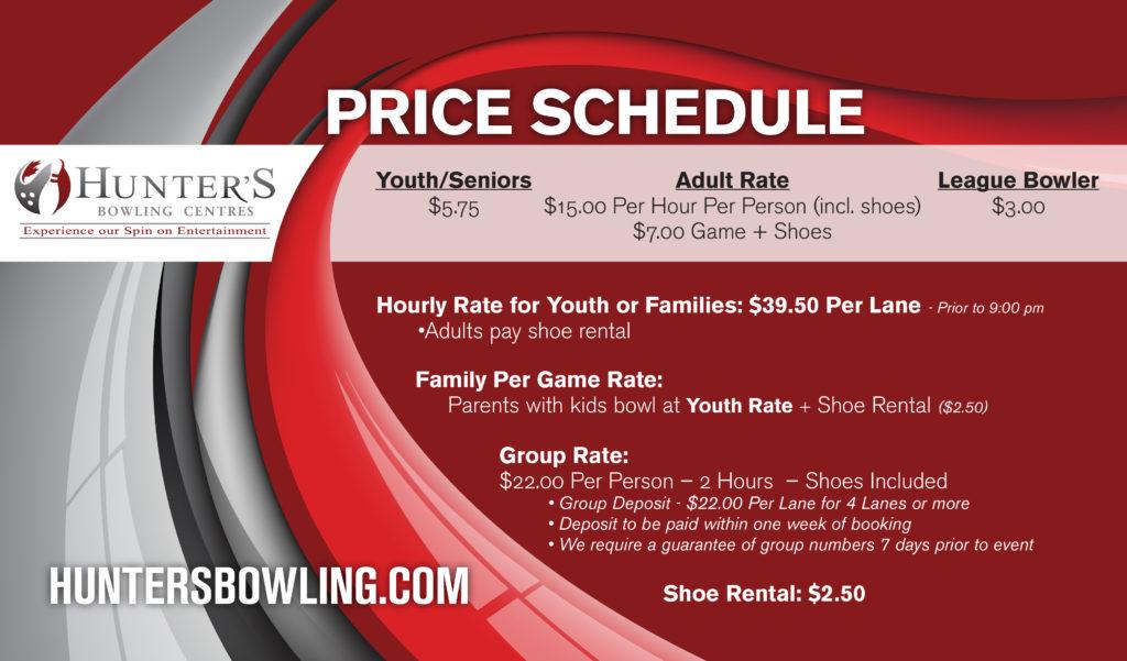 Fairhaven price schedule
